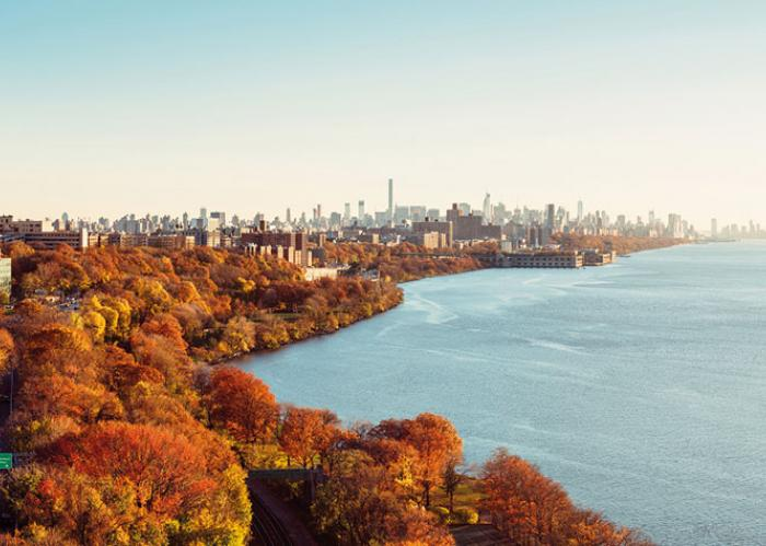 North American Waterways in the Fall, with New York